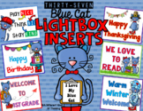 Light Box Inserts Blue Cat Throughout Year