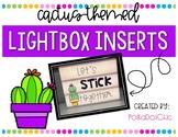Light Box Inserts - {Cactus-Themed}