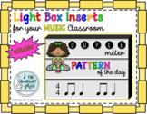 Light Box Inserts - Duple Rhythm Pattern of the Day