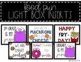 Light Box Inserts - {Food Puns}