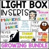 Light Box Inserts 80-DESIGNS for ENTIRE YEAR (GROWING BUNDLE) some EDITABLE