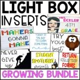 Light Box Inserts 80-DESIGNS for ENTIRE YEAR (GROWING BUND