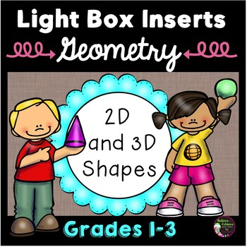 Geometry 2D and 3D Vocabulary for Light Box