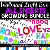 Light Box Inserts Growing Bundle - Growth Mindset, Holiday, Letters, Words