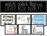 Light Box Inserts - {LLAMA-Themed}