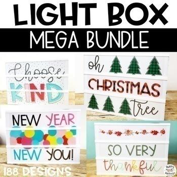 Light Box Mega Bundle - Heidi Swapp or Leisure Arts (Growing)