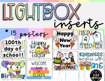 Light Box Inserts/Slides - Motivational Learning Quotes + Celebration Designs