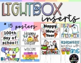 Light Box Inserts/Slides - Motivational Learning Quotes +