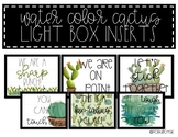 Light Box Inserts - {Water Color Cactus-Themed}