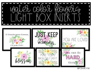 Light Box Inserts - {Water Color Flowers}
