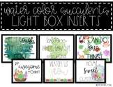 Light Box Inserts - {Water Color Succulent-Themed}