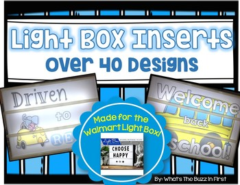Light Box Inserts for Walmart Style Light Box Over 40 Designs
