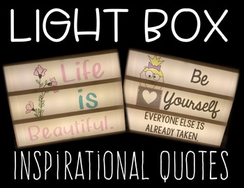 Light Box Slide Inserts: Inspirational Quotes (A Growing Bundle)