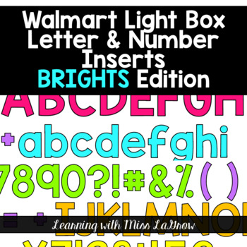 Light Box Letters Inserts (BRIGHT Colors!) 450 Inserts