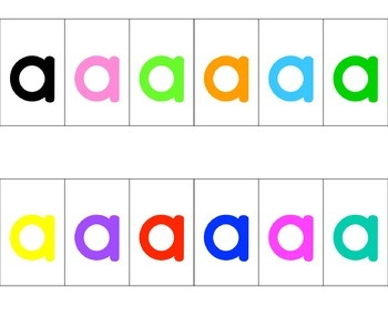 Lightbox Letters- Lower Case Letters, Punct., Numbers, & Symbols in 12 Colors