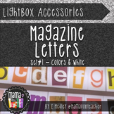 Light Box Letters: Magazine Letter Inserts for Lightbox
