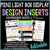 Lightbox MINI Editable Design Inserts -Kid President and More!