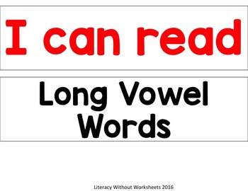 Light Box Short and Long Vowels
