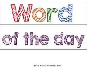 Light Box Sight Words - Editable