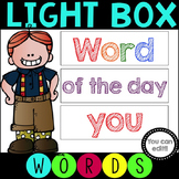 Light Box Sight Words - Editable