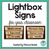 Light Box Signs