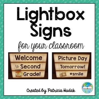 Light Box Signs