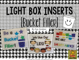 Bucket Filler Light Box Slide Inserts