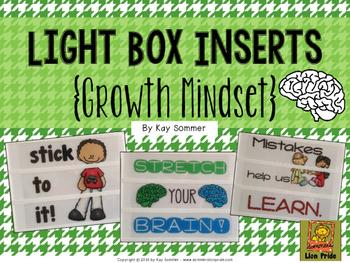 Growth Mindset Light Box Slide Inserts