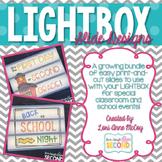 Light Box Slides-A Lightbox Slide Growing Bundle!