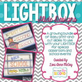 Light Box Slides-A Lightbox Slide Growing Bundle!