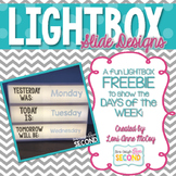 Light Box Slides-Days the Week (Freebie!)