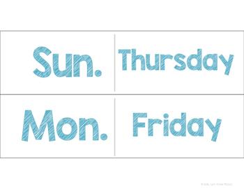 Light Box Slides-Days the Week (Freebie!)