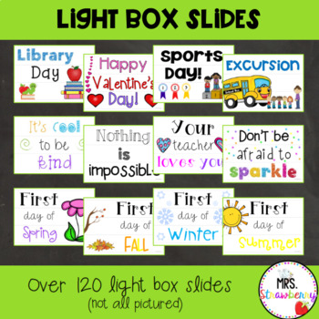 Light Box Slides  Light Box Inserts