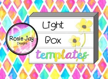 Light Box Templates - Growing Pack #luckydeals