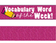 Light Box Vocabulary