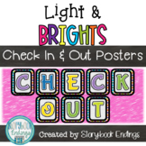 Light & Brights: Book Check In & Out Signs for the Library