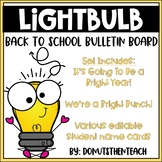Light Bulb Back to School Bulletin Board