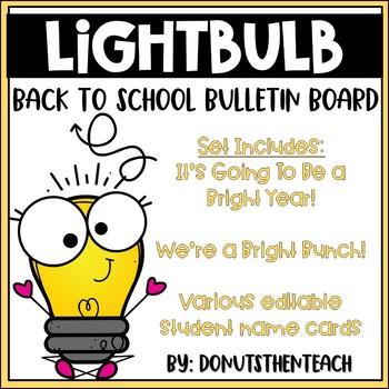 Light Bulb Back to School Bulletin Board