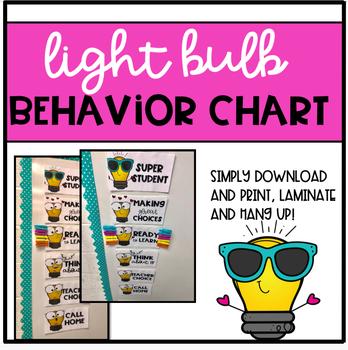 Light Bulb Behavior Clip Chart