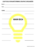 Light Bulb Brainstorming Graphic Organizer