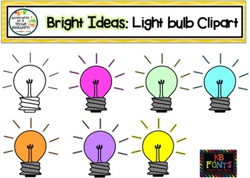 Light Bulb Clipart Set: For personal and commercial use