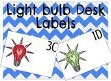 Light Bulb Desk Labels