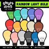 Rainbow Light Bulb Clip Art