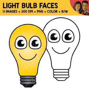 Light Bulb Face Clipart