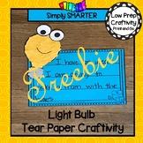 Light Bulb Tear Paper Writing Craftivity FREEBIE
