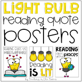 Light Bulb Themed Reading Quote Posters