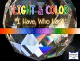 """Light & Color Interactive Vocabulary Game """"I Have, Who Has?"""" Cards"""