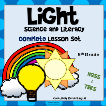 Light Complete Lesson Set Bundle (NGSS & TEKS) 5th Grade