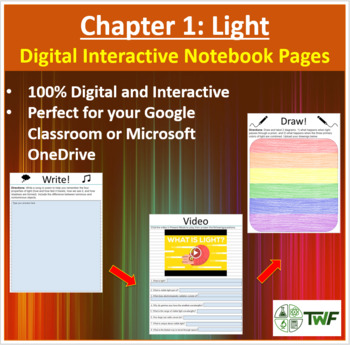 Light - Digital Interactive Notebook Pages