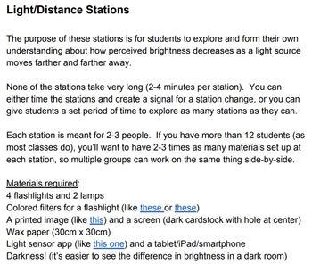 Light & Distance Stations